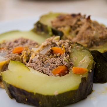 Giant Grilled Stuffed Zucchini Recipe